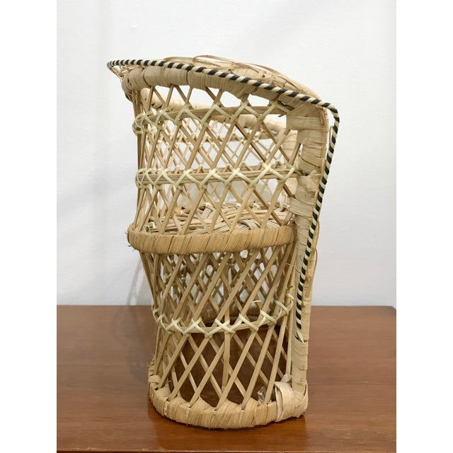 Vintage Rattan Loveseat Plant or Teddy Stand For Sale In Seattle - Image 6 of 7