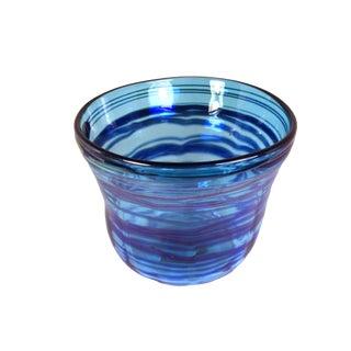 1970s Vintage Handblown Cloche Style Glass Bowl For Sale