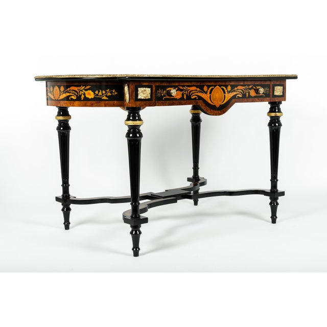 19th Century Boulle Style Center Table For Sale - Image 4 of 11
