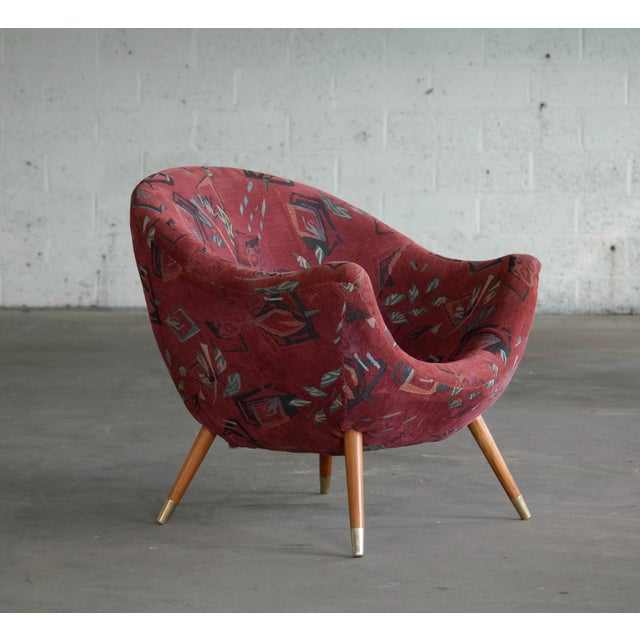 1960's Italian Lounge Chair in the Style of Gio Ponti Ca. For Sale - Image 13 of 13