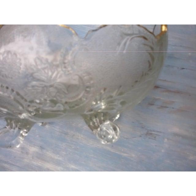 Hollywood Regency Gilded Footed Serving Bowl For Sale - Image 4 of 5