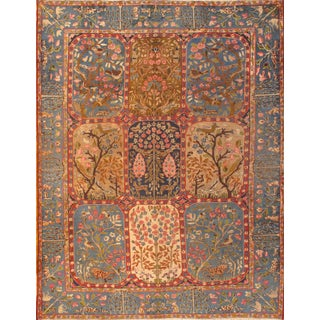 "Pasargad Antique Persian Kerman Hand-Knotted Rug - 8'6"" X 11'1"" For Sale"