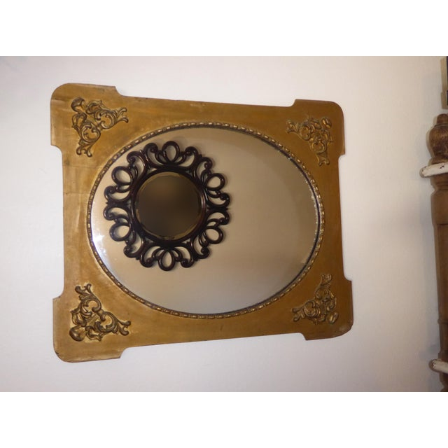 Antique Victorian Style Gold Gilt Floral Carved Wood Wall Mirror For Sale - Image 4 of 11