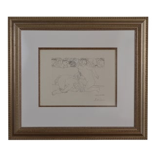 Pable Picasso Framed and Signed Minotaure Vaincu Etching For Sale