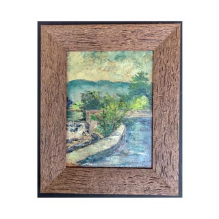 1920s Antique Impressionistic Landscape Oil Painting by Hal Robinson For Sale