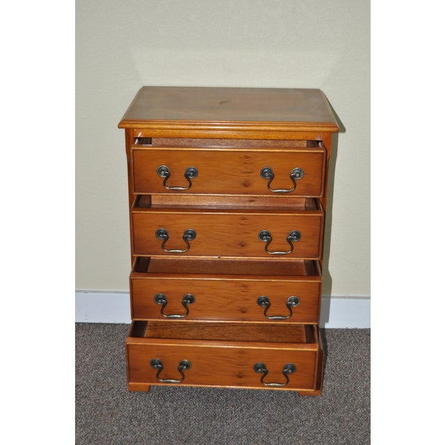 Vintage Yew Wood Miniature Chest of Drawers - Image 3 of 5