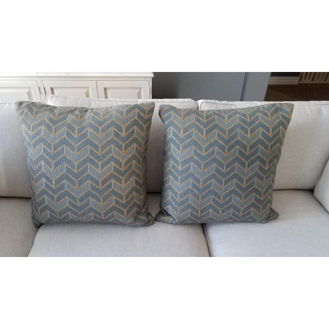2010s Mitchell Gold & Bob Williams Custom Down Pillows - A Pair For Sale - Image 5 of 5