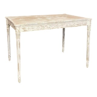 Antique French Directoire Painted End Table For Sale