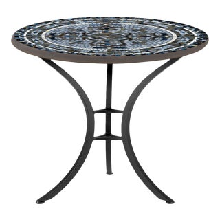 """Roma 30"""" Bistro Table with Black Iron Base For Sale"""