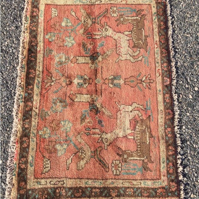 Hamadan Persian Rug - 2' x 4' - Image 3 of 7
