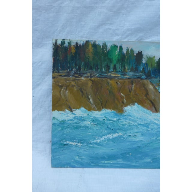 MCM Oil Painting of New England Ocean - Image 3 of 6