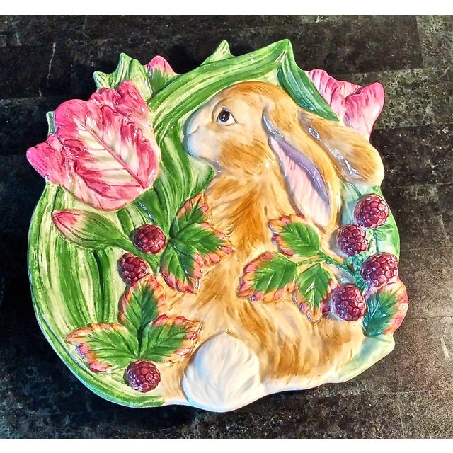 Fitz & Floyd Blackberry Rabbit Canapé Plate For Sale - Image 5 of 5