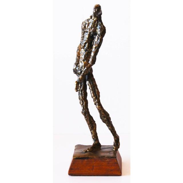 Brutalist Standing Man Sculpture - Image 2 of 4