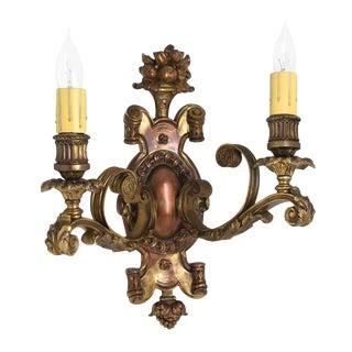 Decorative Bronze Caldwell Sconces - A Pair For Sale