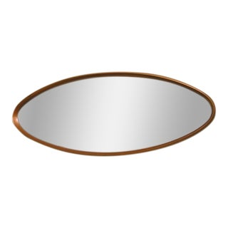 La Barge Gilt Wood Oval Mirror For Sale