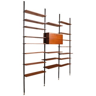Danisch Modular Bookcase Royal System Wall Unit For Sale