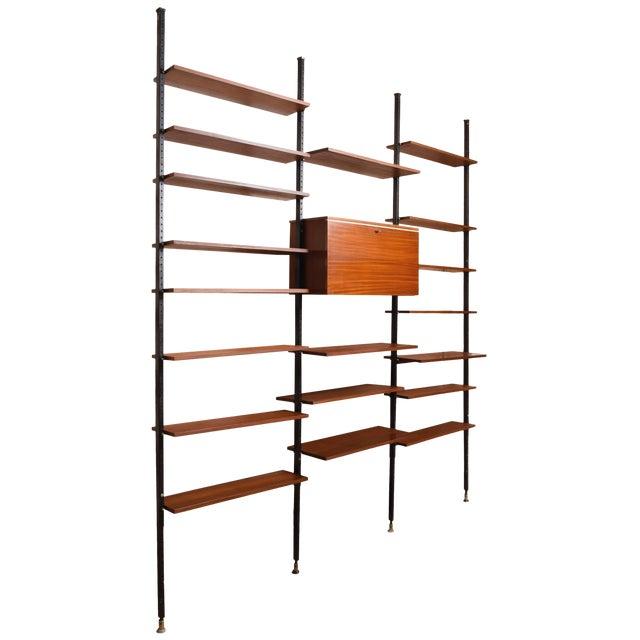 Danisch Modular Bookcase Royal System Wall Unit For Sale