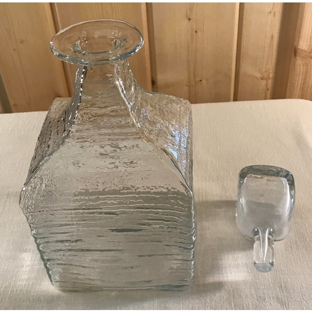 Mid-Century Modern Blown Decanter with Stopper - Image 6 of 9