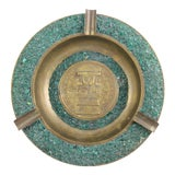 Image of Mesoamerican Brass Ashtray For Sale
