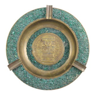 Mesoamerican Brass Ashtray For Sale