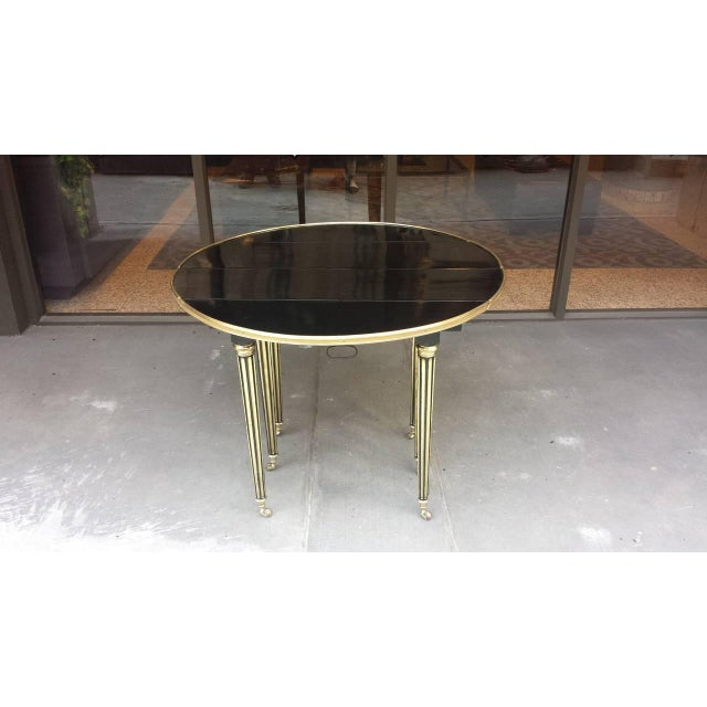 Exquisite Maison Jensen Ebonized Mahogany Dining Table For Sale In New York - Image 6 of 8