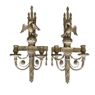 Georgian Style Carved Giltwood Wall Brackets - a Pair For Sale