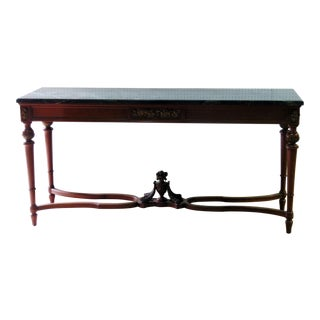 Regency Style Marble Top Console Table
