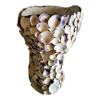 Decorative Seashell Mosaic Vase For Sale