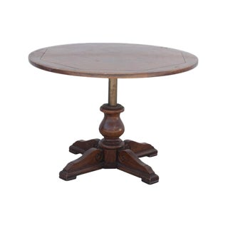 Adjustable Parquetry Top Table