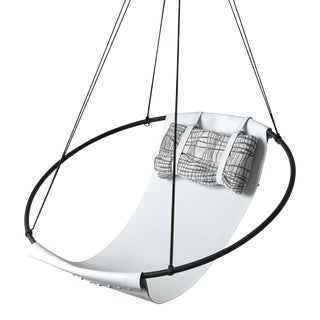 Sling Swing Seat - White Leather For Sale