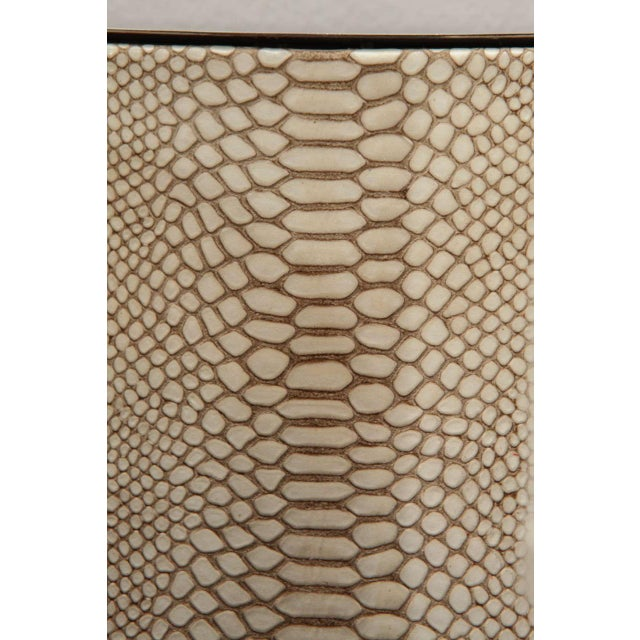 Contemporary Customizable Paul Marra Python Backed Two-Arm Sconce For Sale - Image 3 of 6