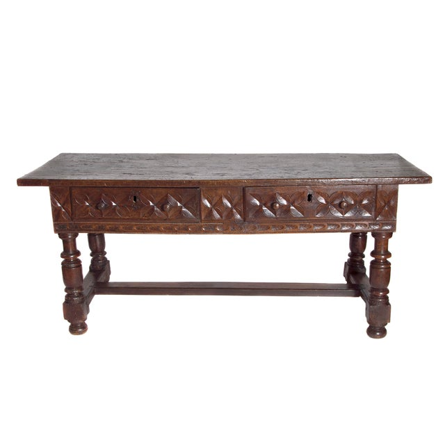 Late 17th Century Spanish Baroque Walnut Center Table For Sale - Image 13 of 13