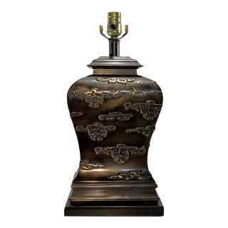 Frederick Cooper Chinoiserie Bronze Patina Sculptural Lamp For Sale