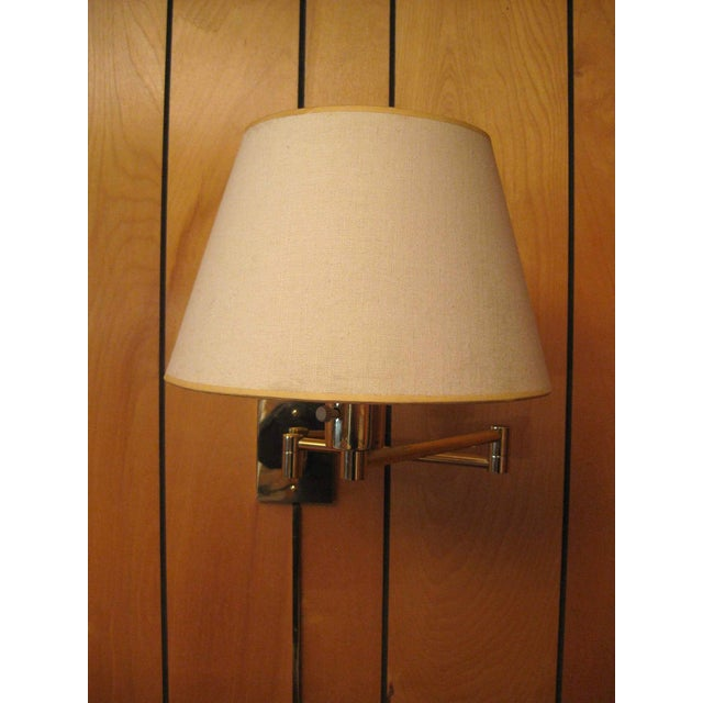 Mid-Century Modern Hansen Lamp Metalarte Double Swing Arm Brass Sconces - a Pair For Sale - Image 3 of 13