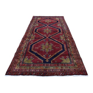 Semi Antique Persian Northeast With Deers Runner For Sale