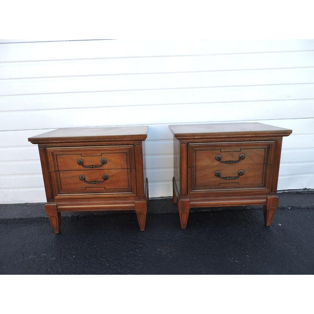 These beautiful Nightstands/End Tables are made out of solid wood, wood, veneer, and they are in good original condition....