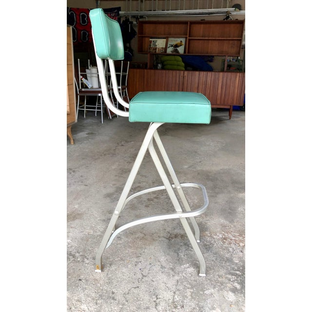 Rare Warren McArthur Bar Stool/Kitchen Stool 1930's For Sale - Image 11 of 11