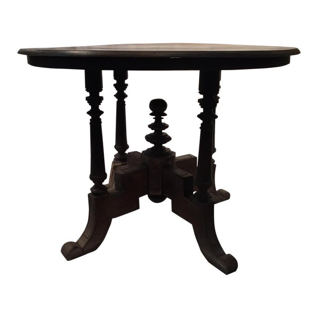 Antique Round Table From Bali - Image 1 of 11