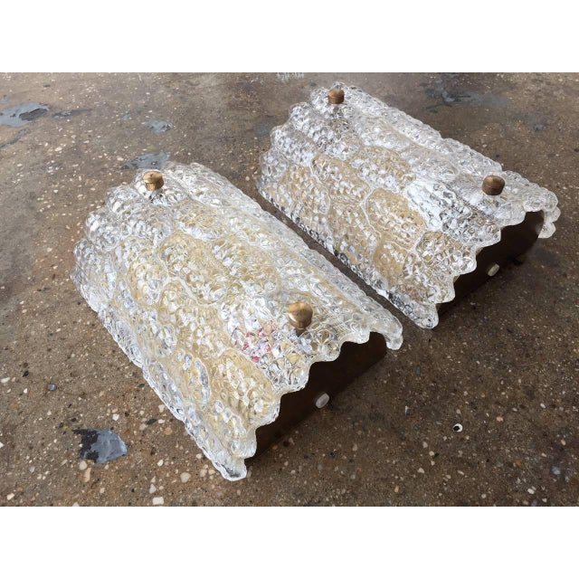 Mid-Century Modern Large Sconces by Orrefors - a Pair For Sale - Image 3 of 5
