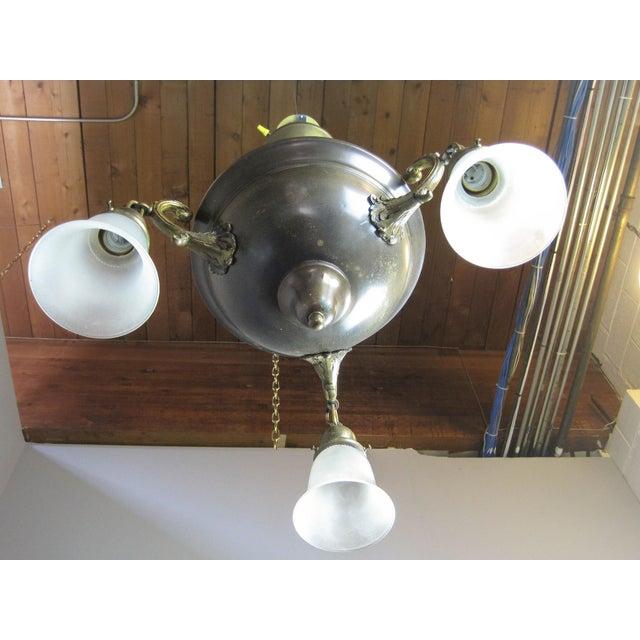 Original Arts & Crafts Bowl Light Fixture For Sale In Washington DC - Image 6 of 11