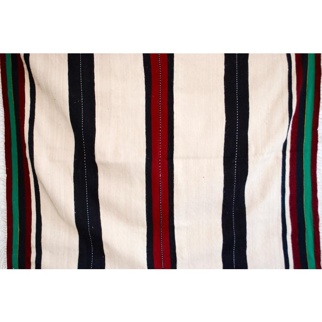 Islamic Moroccan Berber Stripe Throw For Sale - Image 3 of 5