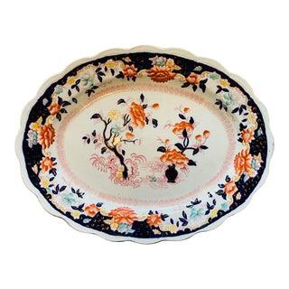 19th Century English Imari Style Platter For Sale