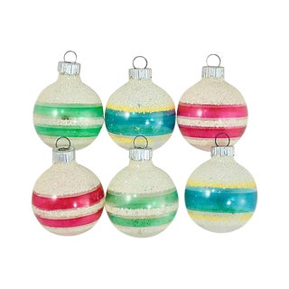 Shiny Brite Unsilvered Glass Orbs - Set of 6 For Sale
