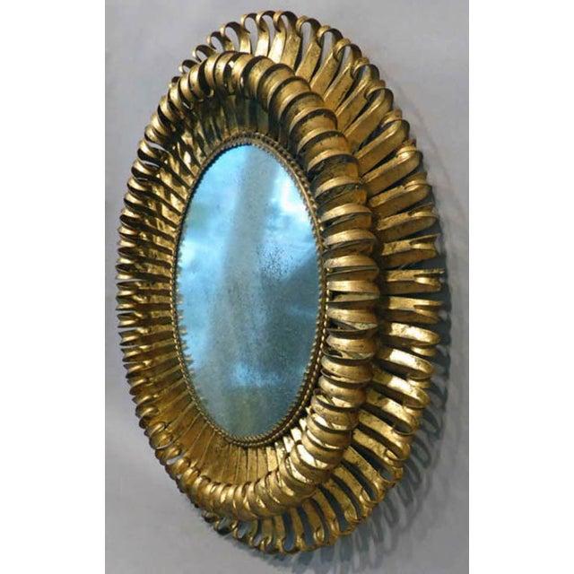 20th Century Italian Gilt Metal Mirror - Image 3 of 5
