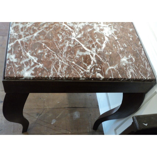 Custom Designed Metal & Marble Console Hall Table - Image 7 of 11