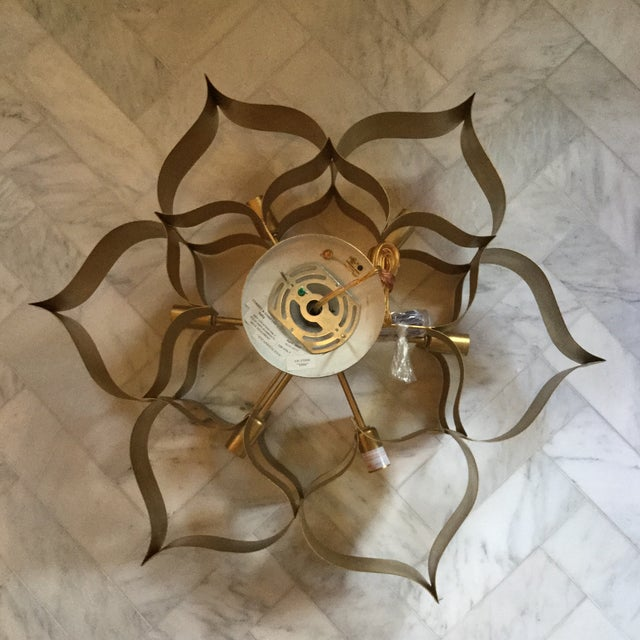 Brand New Never Installed Grand Lotus Chandelier By Currey Company Perfect Working Order