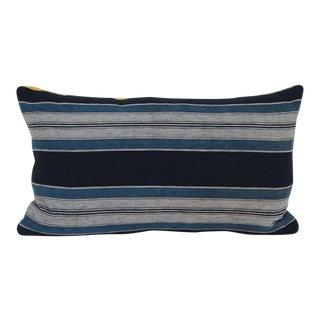 Japanese Shima Striped Velvet Pillow For Sale