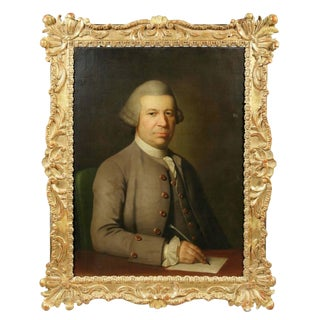 Georgian Portrait of Gentleman Painting in Period Frame For Sale