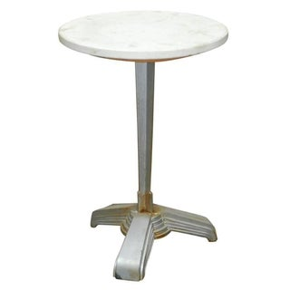 Art Deco Iron and Marble Side Table