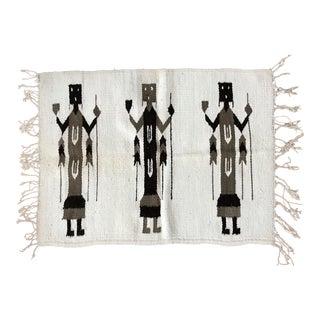 Navajo Yei Rug - 2′1″ × 2′9″ For Sale